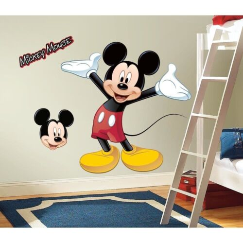 37 disney mickey mouse giant 9 wall decals mural. Black Bedroom Furniture Sets. Home Design Ideas