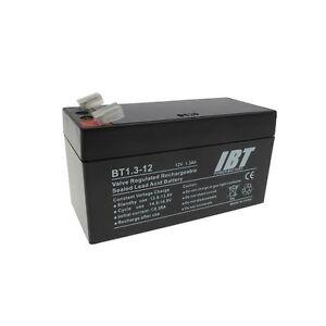 12 Volt 1.3Ah Rechargable Battery for Wired Alarm Control Panels BATT12V R/C