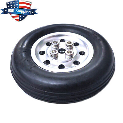 1 Piece 2.5 inch Solid Rubber Wheels Tires with Alu Hub For RC Airplane US Hub Solid Rubber Wheels