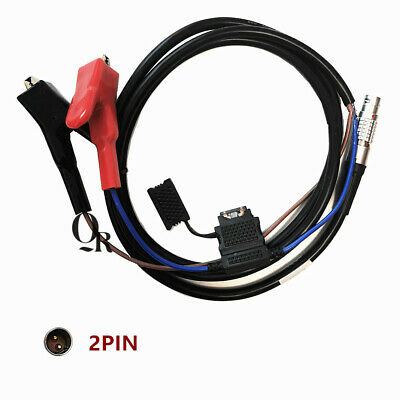Trimble Trimmark3 Radio MK3 Power Cable 2B 2 Pin to Battery Alligator Clips