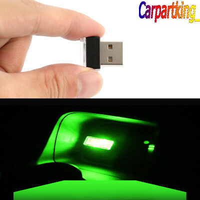 Used, Mini USB Green LED Light Car Interior Light Neon Atmosphere Ambient Lamp 1PCS for sale  China