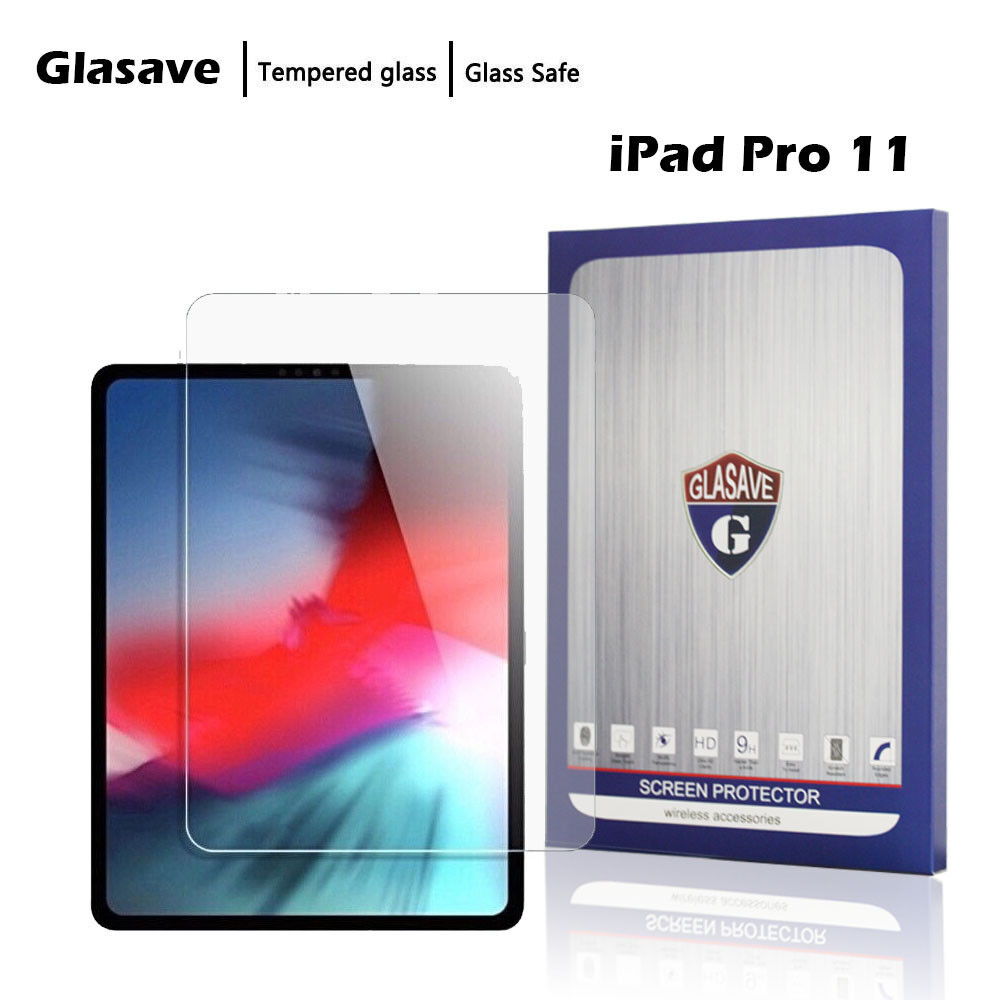 """9.7/"""" 2 Pack Tempered Glass Screen Protector Clear GLASAVE Apple iPad 1 2 3 4"""