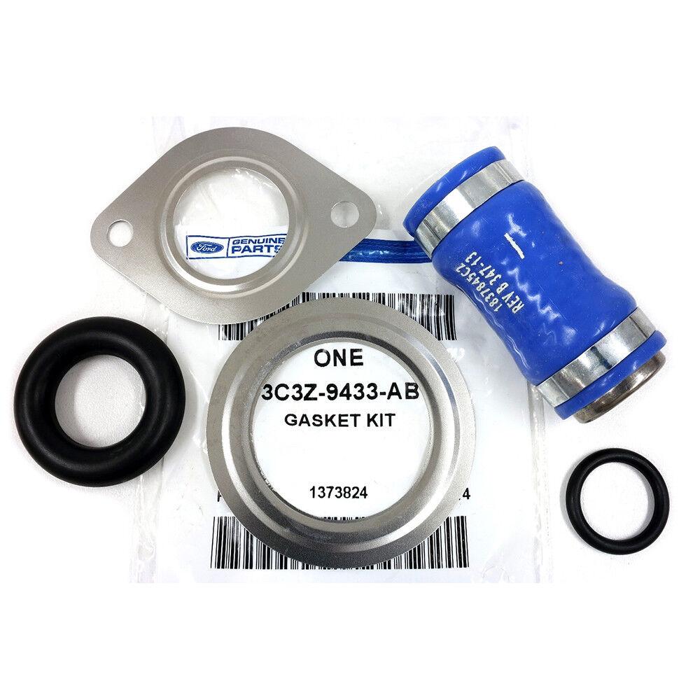 OEM NEW EGR Cooler Coolant Hose Tube Outlet Connector Blue Super Duty 3C3Z9433AB
