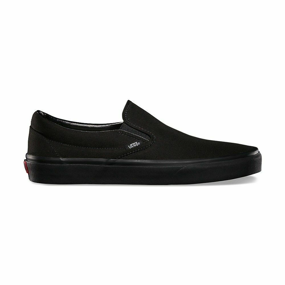 Vans Classic Slip On  Black/Black Skateboarding Shoes Mens