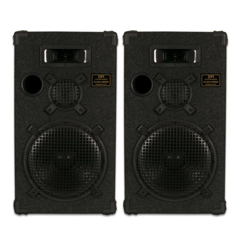 "Goldwood Sound DPI-1200C/8 Passive 12"" Speaker Pair 3-Way PA DJ Karaoke Home"