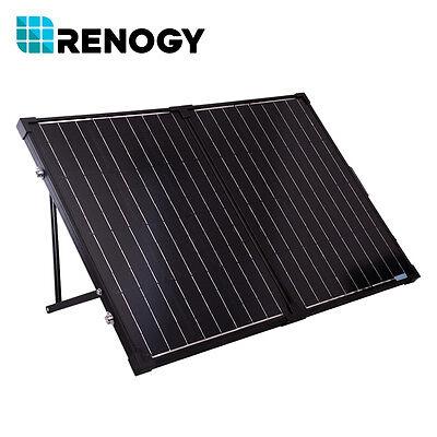Renogy 100 Watt 12 Volt Foldable Solar Suitcase Kit w/o Controller for RV Boat