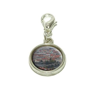 (Charles Bridge Prague Dangling Bracelet Pendant Charm)