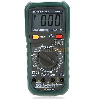 Mastech My64 Digital Multimeter Ac Dc Voltage Hfe Capacitance Temperature Freq