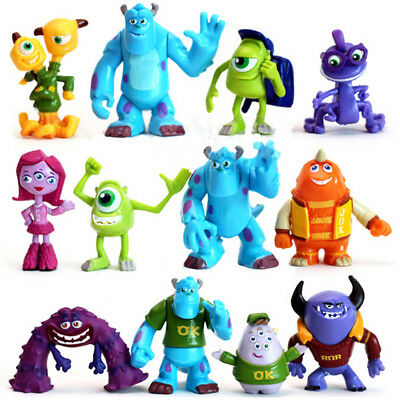 Monsters University Mike James Sully Randall Boggs 12 PCS Figure Cake Topper Toy