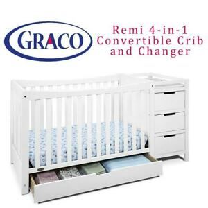 NEW Graco Remi 4-in-1 Convertible Crib and Changer, White Condtion: New, White