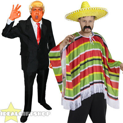 MENS PRESIDENT + MEXICAN MAN FANCY DRESS PAIR COUPLES COSTUME FUNNY NOVELTY - Funny Celebrity Couple Costumes