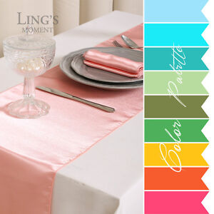 10-pieces-12-x108-Satin-Table-Runner-Wedding-Party-Banquet-Decoration-COLORS