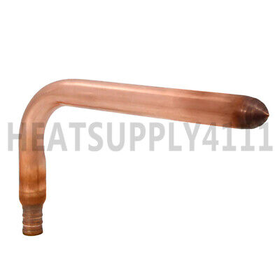 Copper Stub Out Elbow For 12 Pex Tubing 3-12 X 8