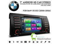 "BMW E53 X5 E39 5 Series 7"" Android 6.0 HD 1080p WiFi GPS 4G Ready DVD USB SD Aux Car Stereo £399.99"