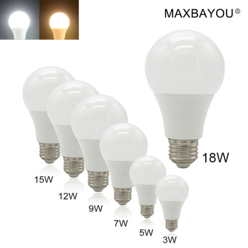 E27 B22 E14 LED Globe Bulb Lamp Light 3W 5W 6W 7W 9W12W15W18