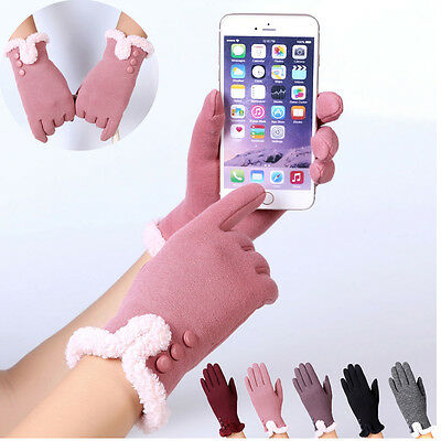 2017 Womens Fashion Ladies Winter Outdoor Sport Candy Color Warm Party Gloves
