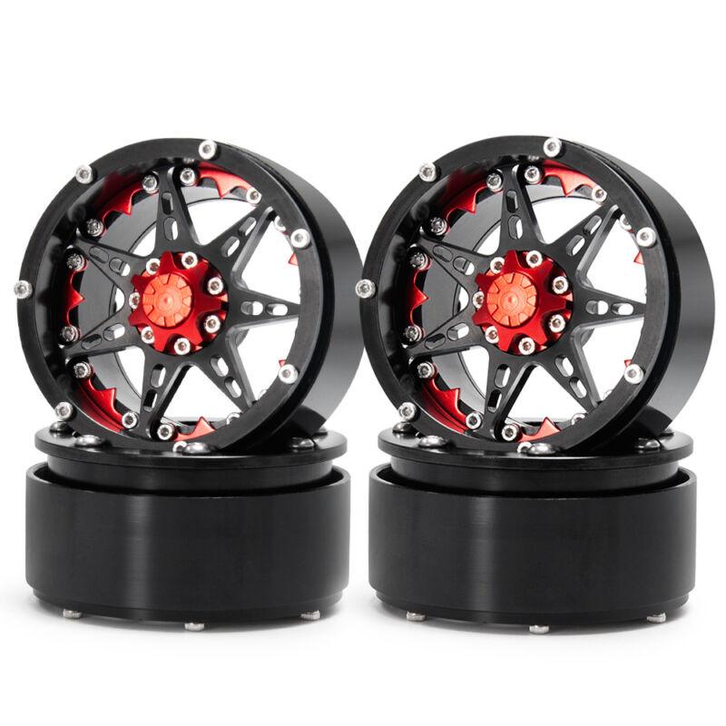 """4pcs 2.2"""" Aluminium Beadlock Wheels for 1/10 RC Crawler Wraith TRX-4 D90 SCX10"""