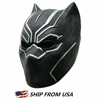 Black Panther Helmet Cosplay Full Head Adult Mask Avengers Halloween Party Gift