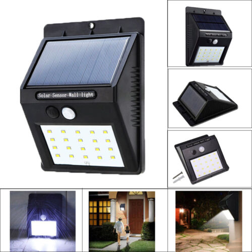 4 Pack - Solar Power Sensor Wall Light Security Motion Weatherproof Outdoor Lamp