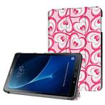 3-Vouw harten stand flip hoes Samsung Galaxy Tab A 10.1