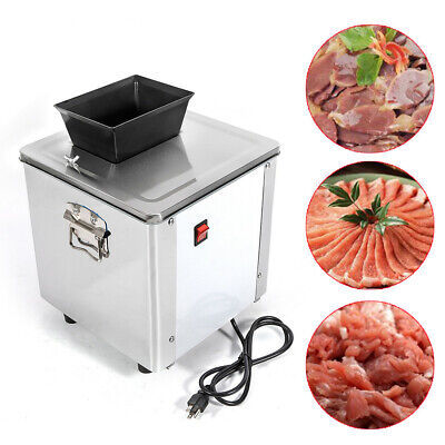 3.5mm Electric Meat Slicer Machine Stainless Steel Auto Meat Cuber 550w New Us