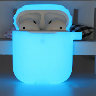 For Apple Airpods 1/2 Silicone Earphone Charger Case Cover Night Fluorescent