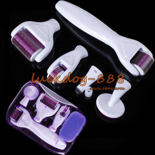 4 in 1 Derma Roller Set 0.5mm, 1.0mm, 1.5mm Titanium Micro N