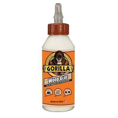 Gorilla Wood Glue Indoor Outdoor Strong Adhesive Dries Natural Color 8oz Bottle