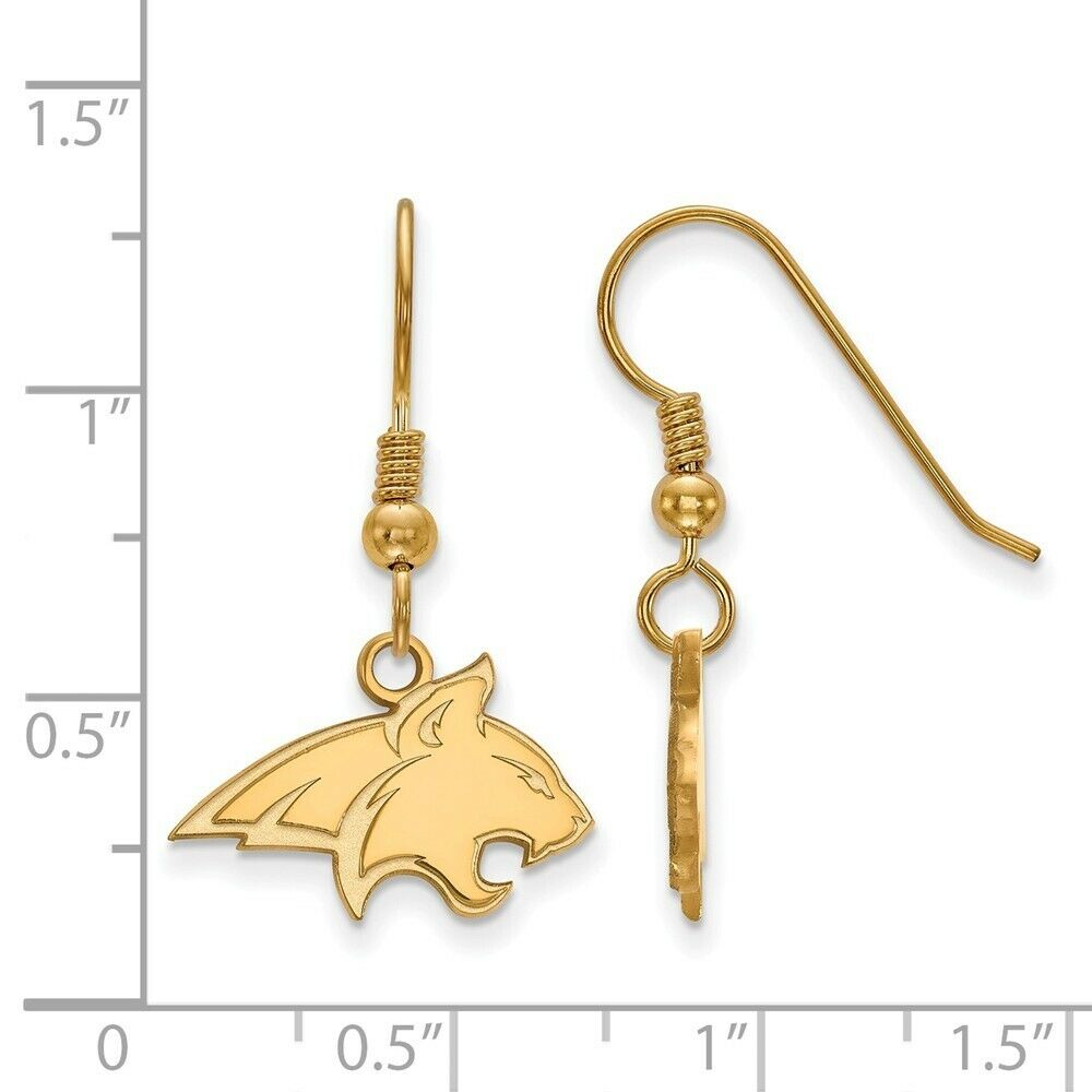 Montana State Bobcats 14k Yellow Gold Cut Out Logo College Charm