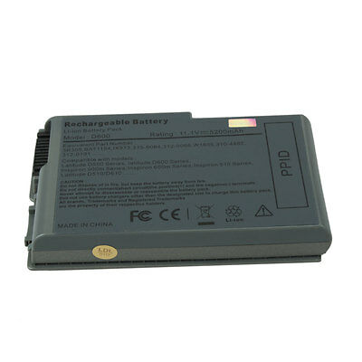 Laptop Battery for Dell Latitude D520 D600 D610 D500 D505 510M 600M Ada