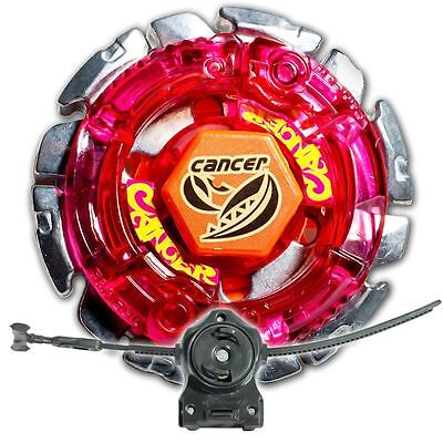 Dark Gasher / Cancer Metal Fusion 4D Beyblade STARTER SET w/ Launcher & Ripcord! ()