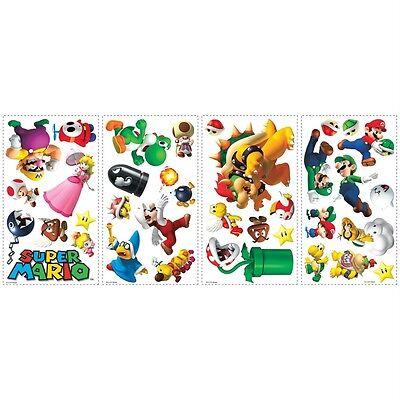 SUPER MARIO GAME 35 BiG Wall Stickers NINTENDO Bowser YOSHI Room Decor Decals RC