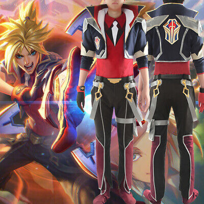 LOL League of Legends Battle Academia Ezreal Cosplay Costume Uniform Outfit (Ezreal Cosplay Kostüm)