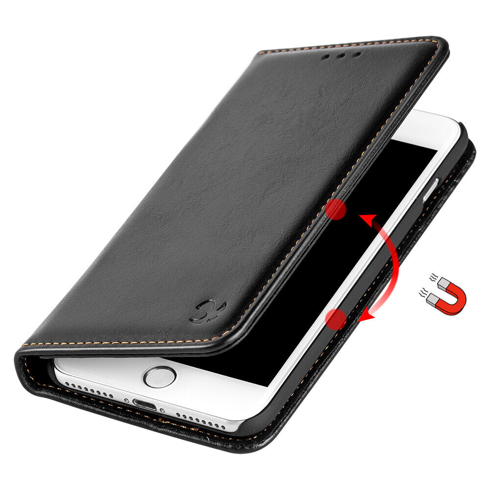 For iPhone 8 7 6 6S Plus Xs Max Xr X Leather Wallet Case Cov