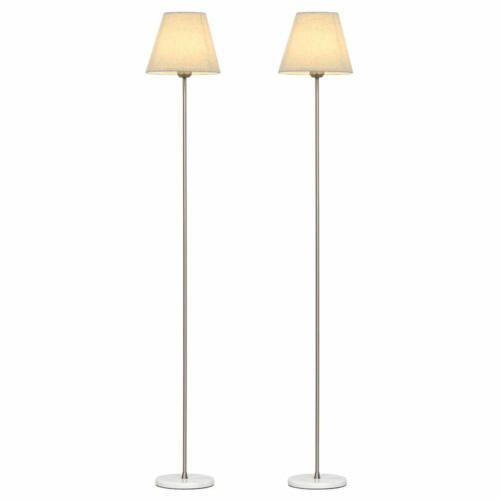 Modern Marble Floor Lamps 2 Set Elegant Standing Reading Lam
