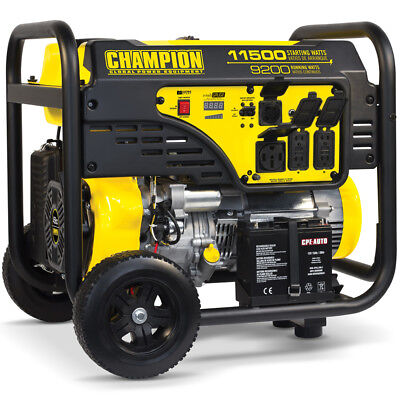 Champion 100110 - 9200 Watt Electric Start Portable Generator
