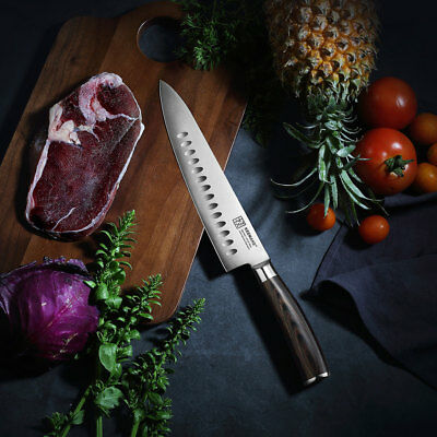 8.5 German steel chef knife cutter premium stainless steel meet knife cleaver