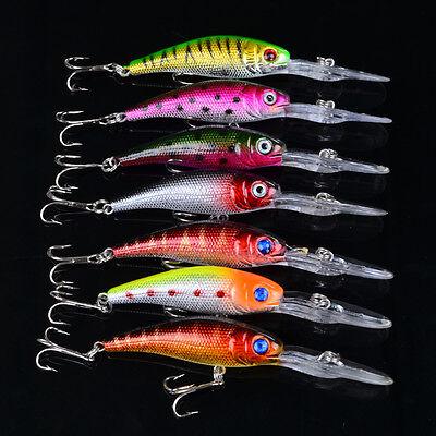 Bulk 70pcs Plastic Minnow Wobbler Bait Bass Tackle Fishing Lures Baits 10cm/7.6g