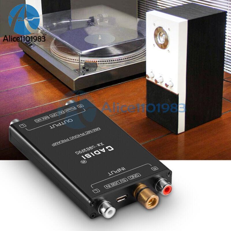 Mini MM MC Phono Stage Preamp LP Vinyl Record Player Turntable RIAA Preamplifier