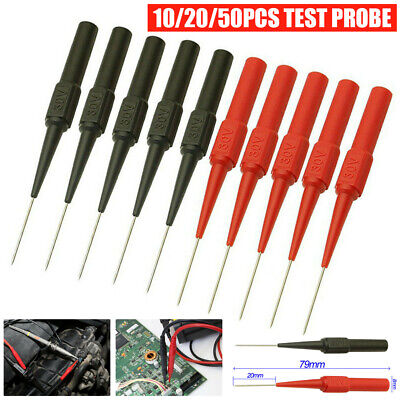 10x Multimeter Test Lead Extention Back Probes Sharp Needle Micro Pin For Banana