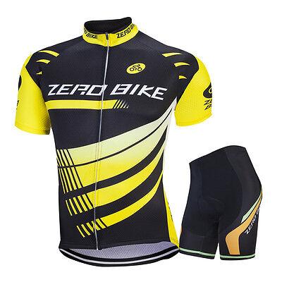 (Men's Cycling Short Sleeve Jerseys Shorts Set Riding Race Shirt Pants Kits New)