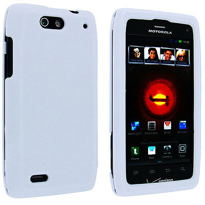 Droid 4 Snap (White Snap-On Hard Case Cover for Motorola Droid 4 XT894)