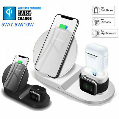 3in1 Wireless Charger Fast Charging Dock Station For iPhone 8 11 XR Apple Watch