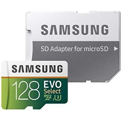 MicroSD Card 128GB Samsung Galaxy Memory W/ Adapter Best Tablet Class 10 UHS (Best 128gb Micro Sd Card)