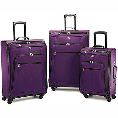 American Tourister Pop Plus 3 Piece Nested Spinner Luggage Set (Purple) - 64590-
