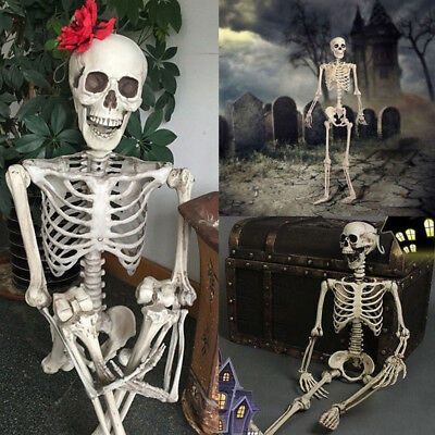 Human Emulate Skull Skeleton Bones Real Life Size Hanging Halloween Props - Life Size Skeleton Decoration