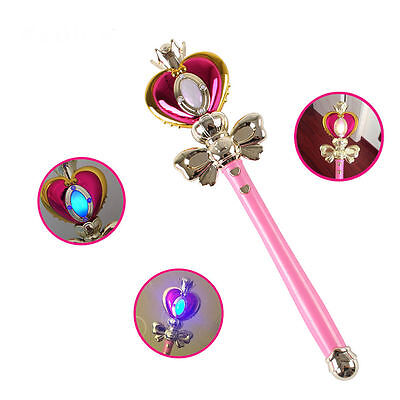 Anime Cosplay Sailor Moon 20th Tsukino Usagi Glow Stick Rod Musical Magic Wand