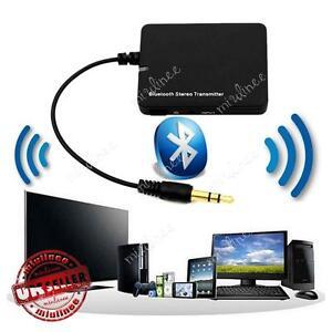 Wireless Bluetooth Audio Transmitter A2DP 3.5mm Stereo HiFi Adapter Dongle iPod