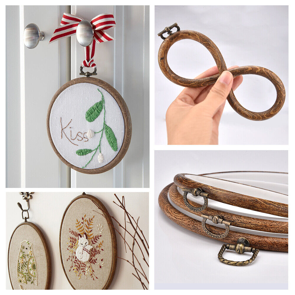 3Pcs//set Embroidery Hoops Bamboo Circle Cross Stitch Hoop Ring Set for Art