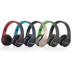 Bluetooth-Sans-fil-Pliable-Casque-ecouteur-Mains-libres-appel-Mic-MP3-FM-TF-T7Z3